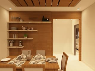 Jewel Ridge , Miyapur, Hyderabad Asian style dining room by SD Interiors & Modulars Asian