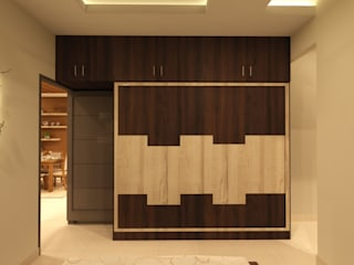 Jewel Ridge , Miyapur, Hyderabad Asian style bedroom by SD Interiors & Modulars Asian