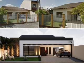 Modernização de fachada Danilo Rodrigues Arquitetura Casas familiares