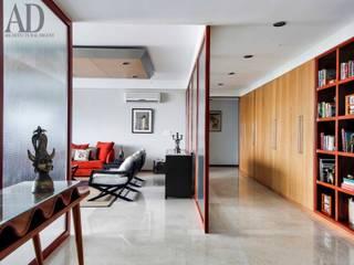 motihar residence. pinnacle apartment. gurgaon Minimalist living room by MOVA1 Minimalist