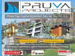 Pruva Yapı Cephe Sistemleri 現代房屋設計點子、靈感 & 圖片 塑木複合材料