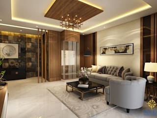 4 BHK apartment Classic style living room by New Era Architects & Construction Classic