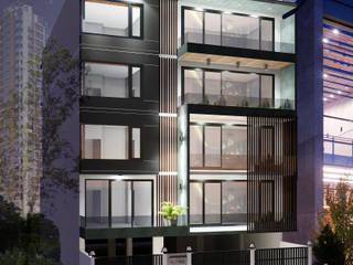 Residential Building at Sushant Lok | Gurgaon Modern houses by Studio Square Design Co. Modern