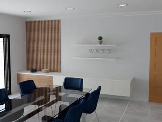 Modern family home Modern dining room by Designs by Meraki Modern