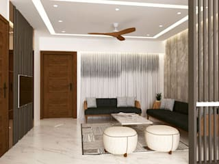 Interiors at Palam Vihar | Gurgaon Classic style living room by Studio Square Design Co. Classic