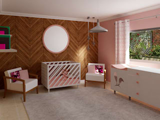 Baby girls' room Modern style bedroom by Designs by Meraki Modern