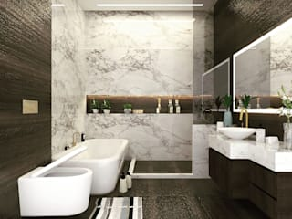 Interiors at Palam Vihar 146 | Gurgaon Modern bathroom by Studio Square Design Co. Modern
