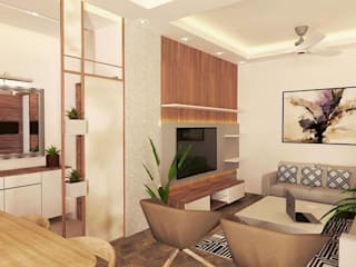Interiors at Sector 40 | Gurgaon Classic style living room by Studio Square Design Co. Classic