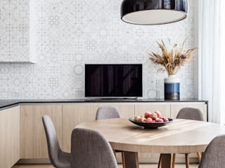Lugerin Architects Modern dining room MDF Wood effect