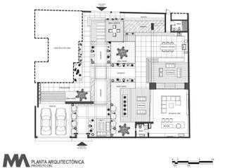 Diseño y Construcción de Patio Casas modernas de Merarki Arquitectos Moderno
