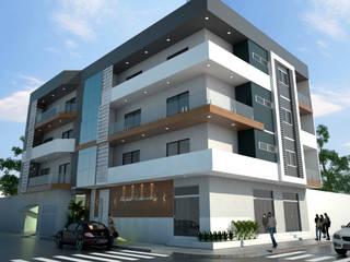 EDIFICIO RS Casas modernas por MJR Arquitetura e Engenharia Moderno