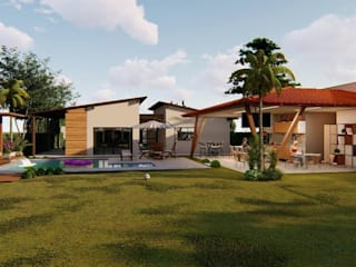 Rustic style houses by MJR Arquitetura e Engenharia Rustic