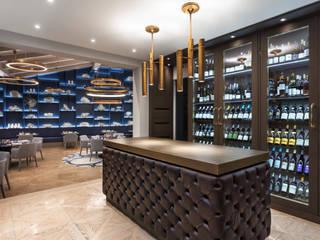 André Boto Fotografia Ruang Penyimpanan Wine/Anggur Gaya Mediteran