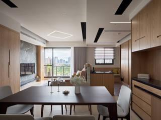 異材質揉合 有個性、品味的現代好宅 昱承室內裝修設計 餐廳