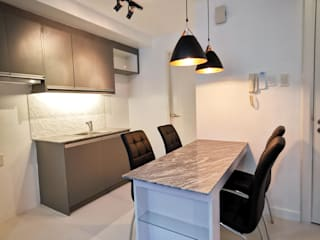 KL Tower Serviced Residences Minimalist dining room by TG Designing Corner Minimalist