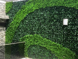 FOLLAJE CON FIGURA CESPED URBANO JardínMuros y vallas Verde