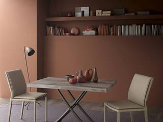 Un tavolo che scompare: il Tavolino Geniale, una soluzione multifunzionale per trasformare gli ambienti Soggiorno moderno di Mobili a Colori Moderno