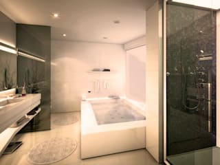 Baños de estilo moderno de Alicia Peláez Sevilla - Interiorismo y Decoración Moderno