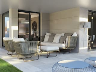 Balcones y terrazas modernos de Alicia Peláez Sevilla - Interiorismo y Decoración Moderno