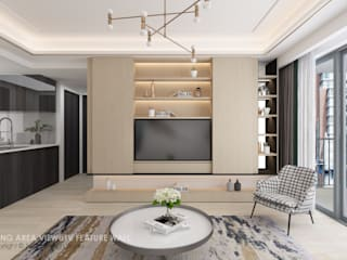 Swish Design Works Minimalist living room Plywood Wood effect