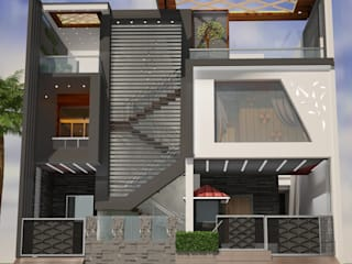 Bungalow project Modern houses by Nav Nirman Planner And Developers Modern