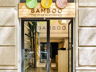 Reforma local comercial Bamboo en Calle Bailén 210, Gracia, Barcelona Oficinas y tiendas de estilo tropical de Marina Sezam Tropical