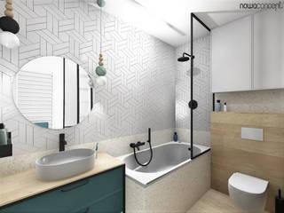 Różanka Nowoczesna łazienka od nowaconcept Nowoczesny