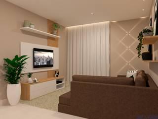 Moderne Wohnzimmer von Daniela Ponsoni Arquitetura Modern