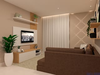 Salones de estilo moderno de Daniela Ponsoni Arquitetura Moderno