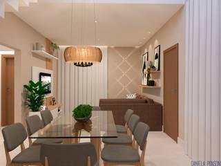 Comedores de estilo moderno de Daniela Ponsoni Arquitetura Moderno