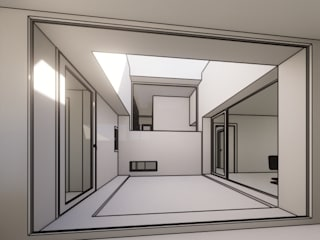 VIVIENDA DE DISEÑO EN MORA, TOLEDO Casas de estilo moderno de Agoin Moderno