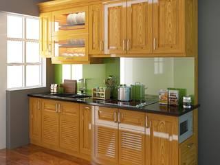 Bảng giá cùng chính sách ưu đãi khi chọn đóng tủ bếp chất liêu gỗ laminate an cường bởi Nội thất Nguyễn Kim