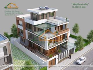 BIỆT THỰ HIỆN ĐẠI 3 TẦNG ĐẸP TẠI SÓC SƠN bởi Công ty CP kiến trúc và xây dựng Eco Home