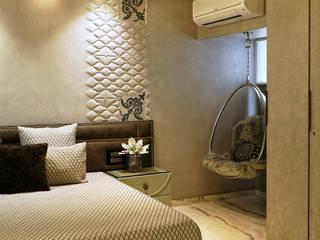 SNZdesigns Спальная комната Кровати и изголовья Янтарный / Золотой