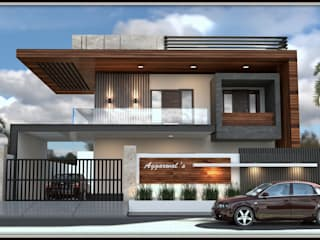 Front Elevation View 2 by Inception Design Cell Modern Wood-Plastic Composite