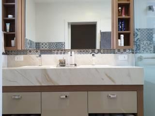 Salle de bain rurale par Larissa Minatti Interiores Rural