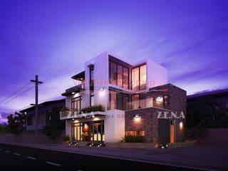 Thiết kế biệt thự hiện đại bởi Công ty Kiến trúc Zena Hiện đại