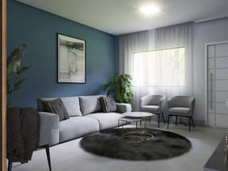 Sobrado Salas de estar modernas por Lélia Chitarra Moderno