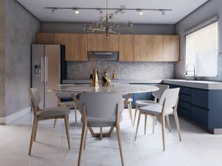 Sobrado Cozinhas modernas por Lélia Chitarra Moderno