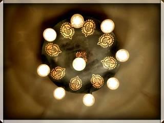 Hand Painted Ceiling Hanging Lamp : asian  by Sanjhbati,Asian