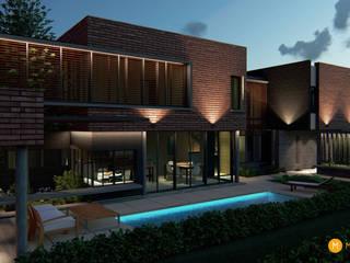 Casa Diambra Piletas modernas: Ideas, imágenes y decoración de Mutuo Arquitectura Moderno