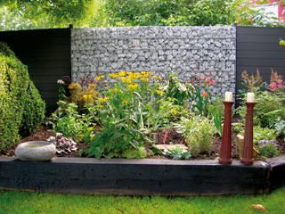 Errichten von Gabionen-Zaunsystemen Garten- und Landschaftsbau Christian Holm