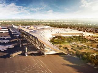 Nuevo Aeropuerto de Lahore. Pakistan Aeropuertos de estilo moderno de GilBartolome Architects Moderno