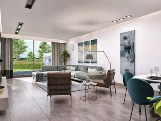 Primus Villa Güzelbahçe Modern Oturma Odası VERO CONCEPT MİMARLIK Modern