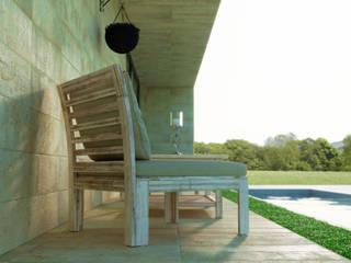 Render esterni progetto ristrutturazione parziale villa privata di Stefano Mimmocchi Rendering Moderno