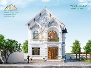 Biệt thự vườn mái thái 2 tầng đẹp bởi Công ty CP kiến trúc và xây dựng Eco Home