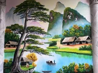 Vẽ tranh tường trang trí đẹp: hiện đại  by Việt Architect Group , Hiện đại