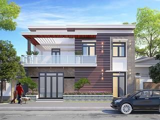 26 mẫu thiết kế mặt tiền nhà phố hiện đại, trẻ trung bởi Công ty cổ phần tư vấn kiến trúc xây dựng Nam Long