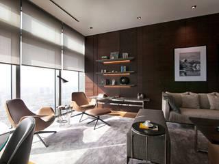 MONOBLOK DESIGN & INTERIORS – E.K Rezidans | Emaar Square Residences: modern tarz , Modern
