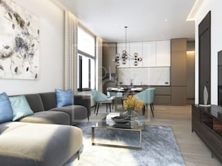 Современный BARCELONA Гостиная в стиле минимализм от HouseBox Минимализм